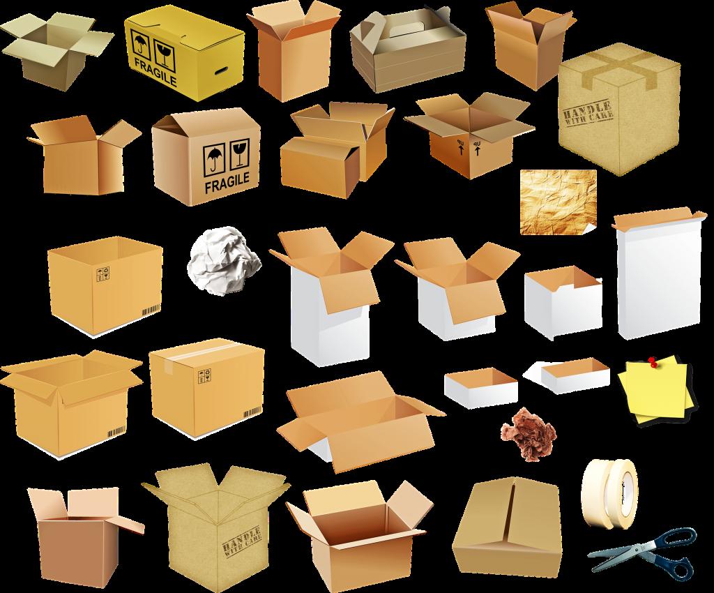 Kleinteile in Umzugskartons lagern